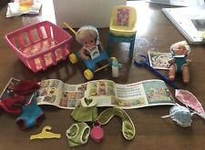 New listing Vintage 1972 Sweet April Playtime Set with Dolls and Original Accessories