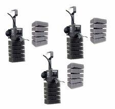 3 x Aquael Pat Mini Tiny turbine filter Der Miniatur-Kreiselfilter +Thick sponge