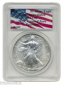 2001 PCGS WTC Recovery 1 of 1440  American Silver Eagle   *RARE*  ~ ONE Coin ~