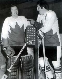 Phil & Tony Esposito - Team Canada 1972 8x10 B&W Photo