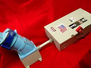 Bundle IP67 Water Tight Receptacle Motor/Branch Decontactor™ 100A Safety Switch