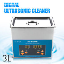 3l Digital Ultrasonic Cleaner Ultra Sonic Bath Dental Cleaning Tank Timer Heater