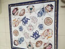 SCARF of TEAPOTS Authentic Designer: Boston Museum of Fine Arts-giant SILK scarf