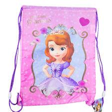 PRINCESSE SOFIA Sac sac à dos cordon de serrage tissu rose imprimée 41X30,5 cm