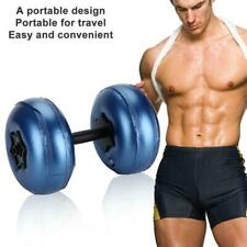 Adjustable Water-filled Dumbbell Hand Weight Fitness Gym Exercise 16-20kg Blue