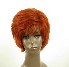 perruque afro femme 100% cheveux naturel courte cuivré intense ref LAET 06/130
