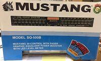 NOS Vintage 7-band Graphic Equalizer Mustang SQ-500B EQ Hi-Power BLACK OLD SKOOL