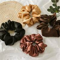 1pc Shiny Metallic Hair Scrunchies Ponytail Holder Elastic Ties Bands Rope Girl