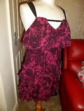 AX Armani Exchange 100% Silk Plum & Black Dress Size 4