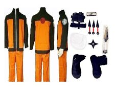 Naruto 2nd Uzumaki Naruto Cosplay Costume whole set