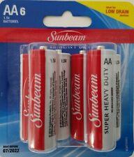 "Sunbeam Super Heavy-Duty ""AA"" Batteries 1.5V, 6/Pk"