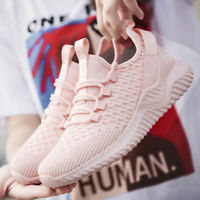 Women Flykint Sneakers Breathable Casual Running Sports Tennis Athletic Pink