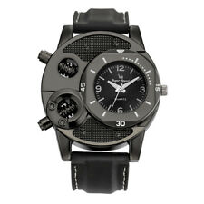 1PC Young Men Casual Thin Silica Gel Sports Round Stainless Steel Quartz Watch