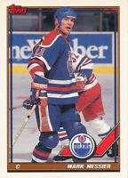 Mark Messier 1991-92 Topps #346 Oilers hockey Card