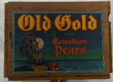 Old Gold Wood Pear Crate Canadian Pears, Penticton, British Columbia Canada