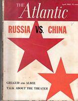 1965 Atlantic Monthly April - Georgia O'Keefe; Edward Albee; Green River Wyoming