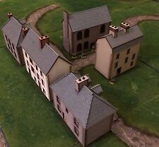Set D 5 x 28mm Normandy Buildings KITS