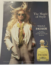 Magazine Print Ad Patron Blue Agave Tequila Victoria Silvstedt Magic of Style