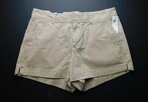 "NWT Gap Women's Khaki 3"" Shorts Sizes 4 & 10 New Free Shipping"