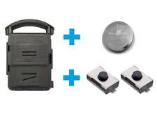 AMAKEY Gehäuse Autoschlüssel Fernbedienung + Batterie & Microtaster für OPEL