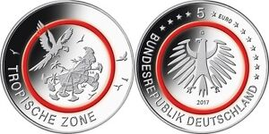 #RM# 5 EURO COMMEMORATIVE ALLEMAGNE 2017 - ZONE TROPICAL