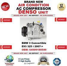 DENSO ARIA CONDIZIONATA COMPRESSORE AC BMW 3 Cabrio E93 325 i 2007->64509180549
