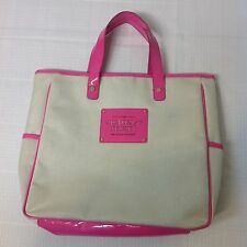 Victoria's Secret Love Tote Hand Bag Beige Tan and Pink The Sexiest on Earth