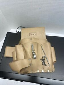 Vintage Sears Leather Electricians Tool Pouch - Item # 9-4588