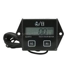 LCD Digital Display Tach Hour Meter Motor Sroke Engine Car Boat Speedometer A4S8