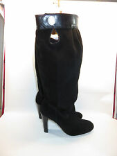 MICHAEL KORS Black Leather & Suede Knee High Fashion Boots Size 9 EUC
