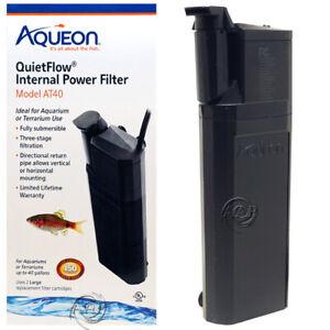 Aqueon AT40 Submersible Internal Aquarium Filter, 170 gph; from AAP