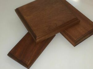 Solid Hard wood Mahogany display bases and plinths many sizes wooden base