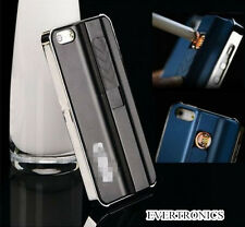 USB Rechargeable Fire Lighter Cigarette Hard Back Case Cover For iphone 4 4s