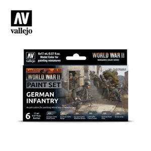 Vallejo 70206 WWII German Infantry Paint Set for Gaming Miniatures