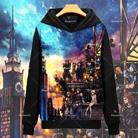 Anime Kingdom Hearts Cos Hoodies Sweatshirts Thicken Long Sleeve Coat S-3XL#97