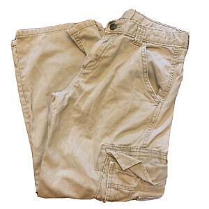 WRG Jeans Co. Wrangler Boys Beige Cargo Pants Size 10 Husky