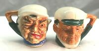 Vintage Mini Toby Mug Salt and Pepper Shakers Made in Japan 2 inches Tall