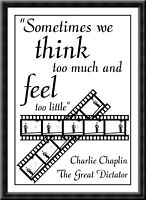 """Charlie Chaplin Quote Poster Print /""""Life is a tragedy when seen in closeup/"""" Gift"""