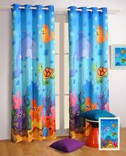 Digitally Printed Marine Kids / Baby Blockout Eyelet Blue 1 x Curtain 120x220cm