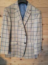 Dolce Vita Mens Striped Suit Jacket Sports Coat Size 46 Regular