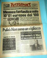 """TUTTOSPORT 5/9/1979 = PIETRO MENNEA 10""""01 CITTA' MESSICO RECORD CONTINENTALE ="""