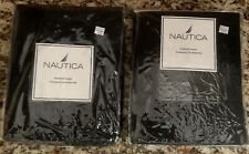 Nautica 2 Packages Black Window Panels 42�x84� Nwt