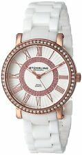 Stuhrling Original Women's 630.03 Orchestra Swiss Quartz Crystals White Ceramic