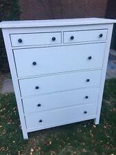 Ikea Hemnes Wooden Chest Of Drawers White 6 Drawer