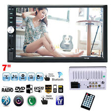"""7"""" Bluetooth Touchscreen Double 2 Din In dash Car Stereo Radio Mp3 DVD TV Player"""