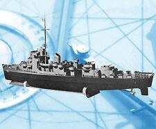 "Vintage 1959 Scale 45"" Radio Control Evarts Destroyer Model Boat Plan & Notes"