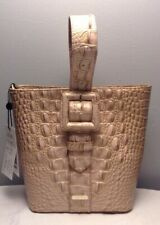 BRAHMIN FAITH MELBOURNE EMBOSSED LEATHER  BUCKET BAG IN CHIFFON OMBRE NWT