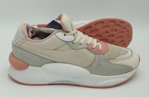 Puma RS 9.8 Space Suede Trainers 370230-05 Pink/White UK6/US7/EU39