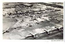 1946 SCHIPHOL Airport under Reconstruction Photo Logo KLM Postcard
