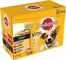 Pedigree Pouch Adult Gravy Real Meals (12Pk) 100g - 720474
